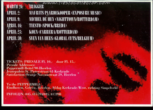 16 April 1999 – Club Mellow – Peppermill, Heerlen