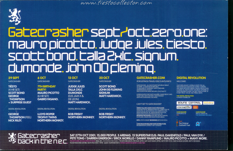 29 September 2001 – Gatecrasher