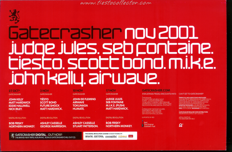 3 November 2001 – Gatecrasher