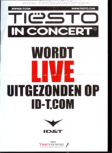 10 May 2003 – Tiesto In Concert