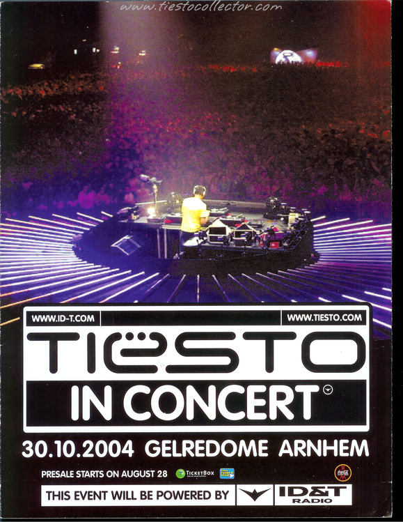 30 October 2004 – Tiesto In Concert – Gelredome, Arnhem