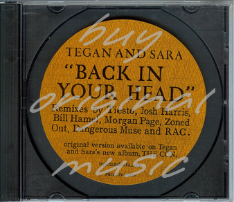Tegan and Sara – Back In Your Head (Tiesto Remix) (Sire Records Promo)