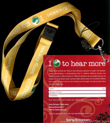 Dj Tiesto – Sony Ericsson – Lanyard – Elements Of Life Phone Promo