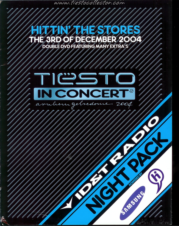 3 December 2004 – Tiesto in Concert DVD Release