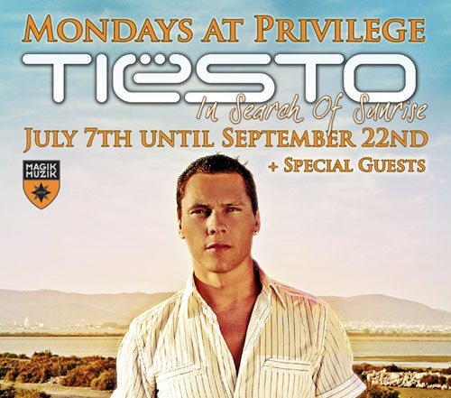 Tiesto Back At Privilege For Another Year