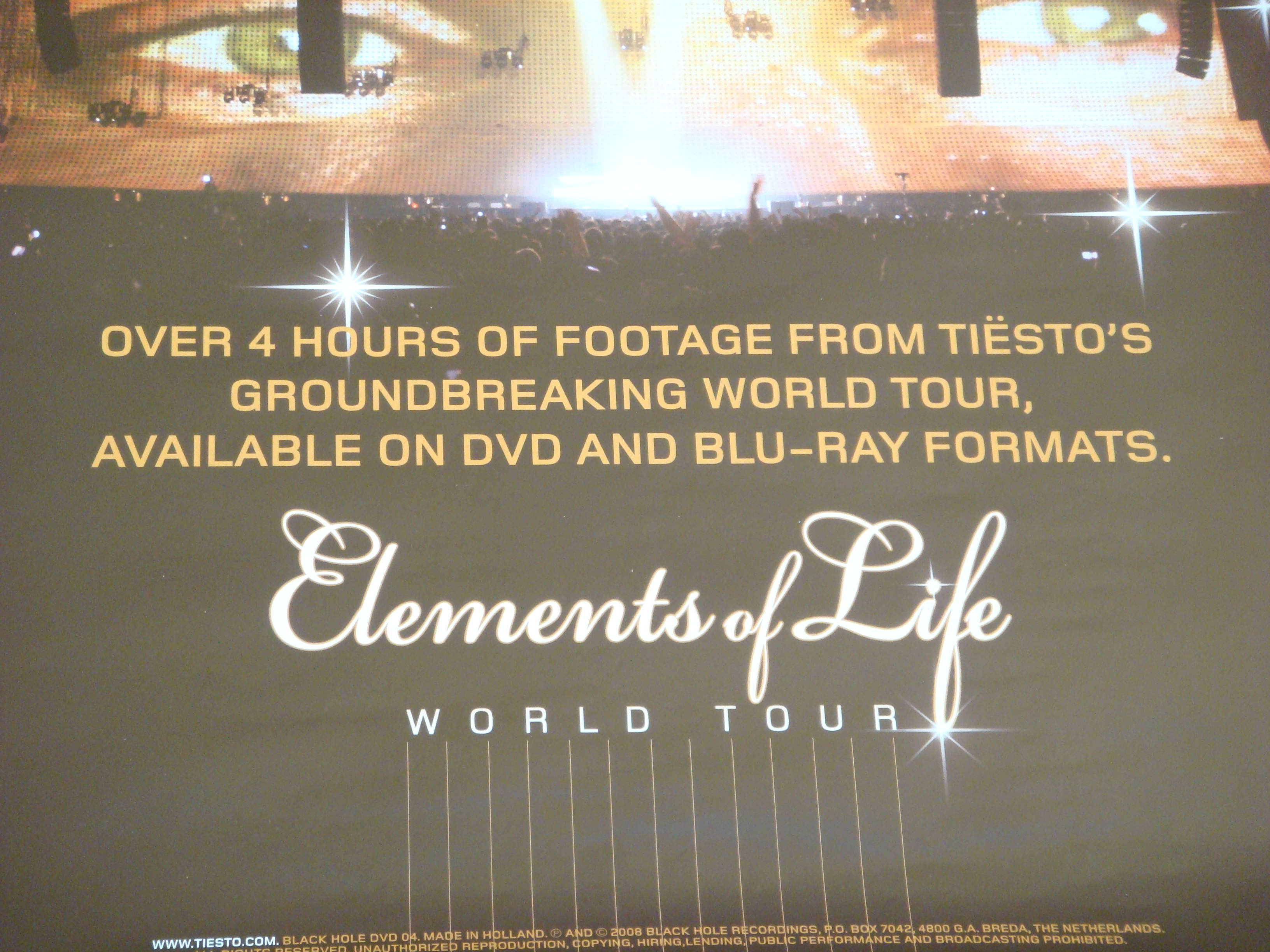 Elements of Life World Tour DVD Release Poster