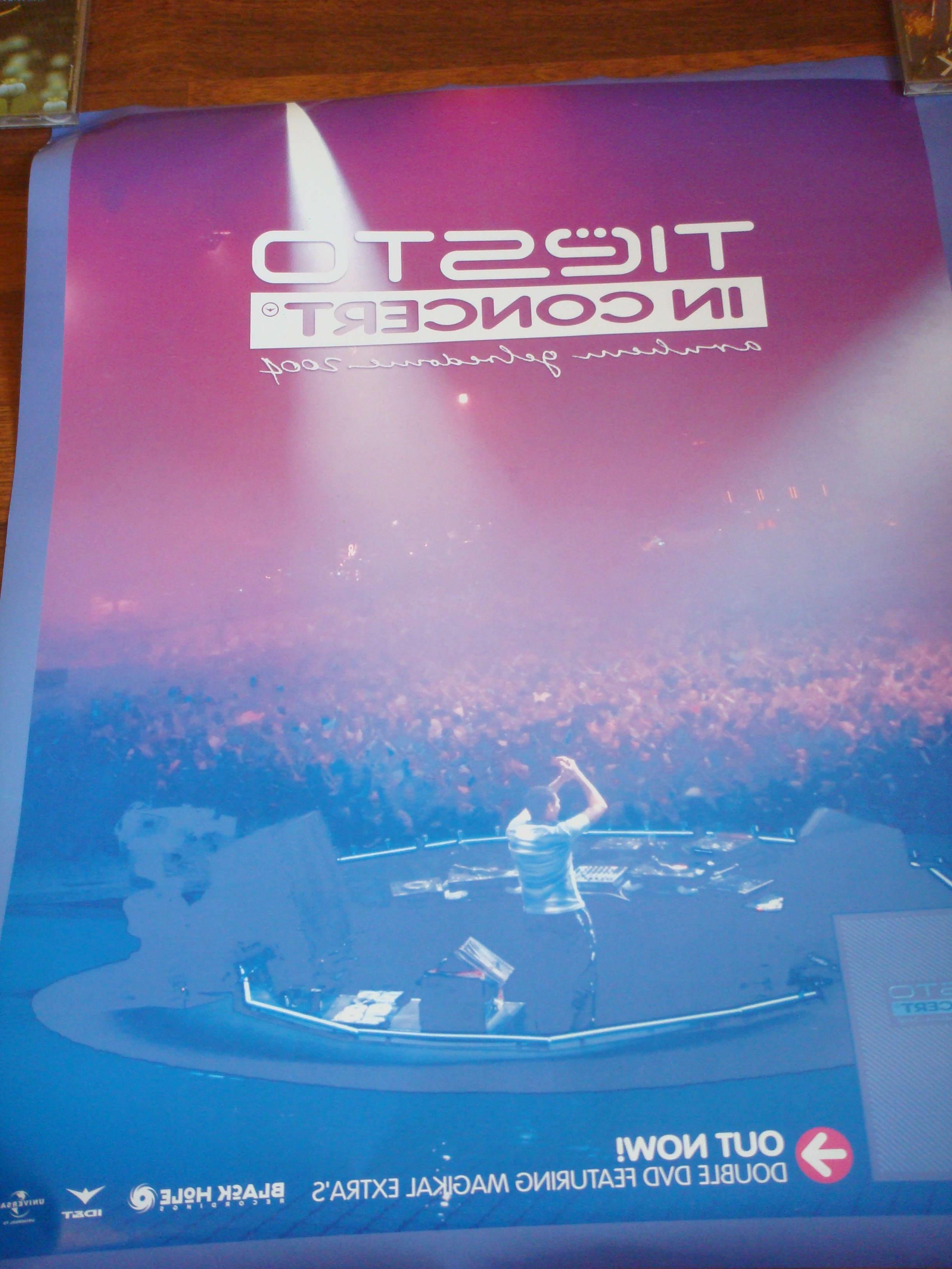 Tiesto in Concert 2004 Special Display Poster