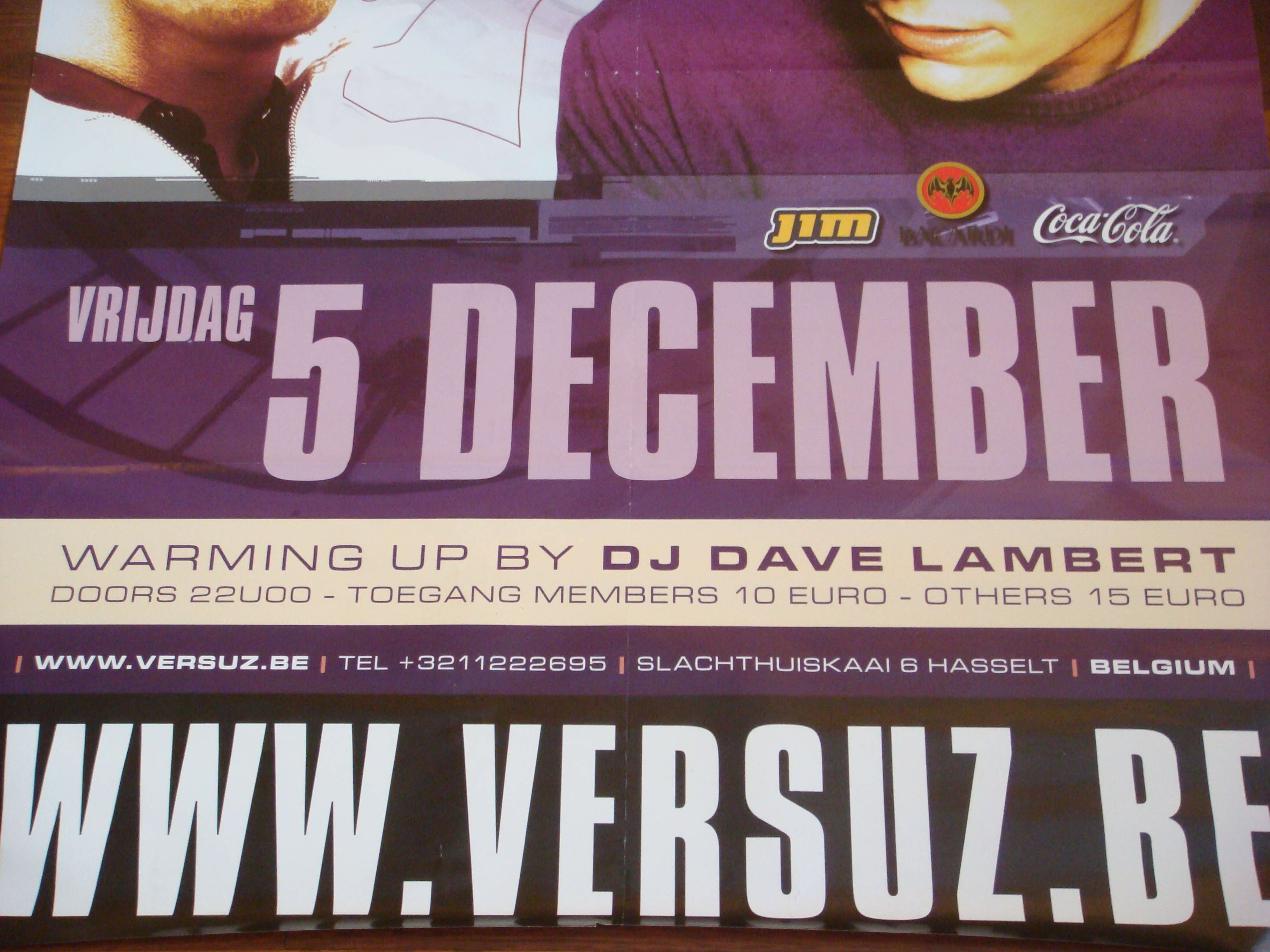 Tiesto at Versuz (Belgium) 5 december 2003 Poster