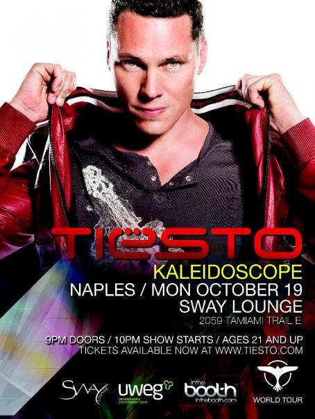 """DJ Tiesto plays 'Kaleidoscope"""" live at Sway"""