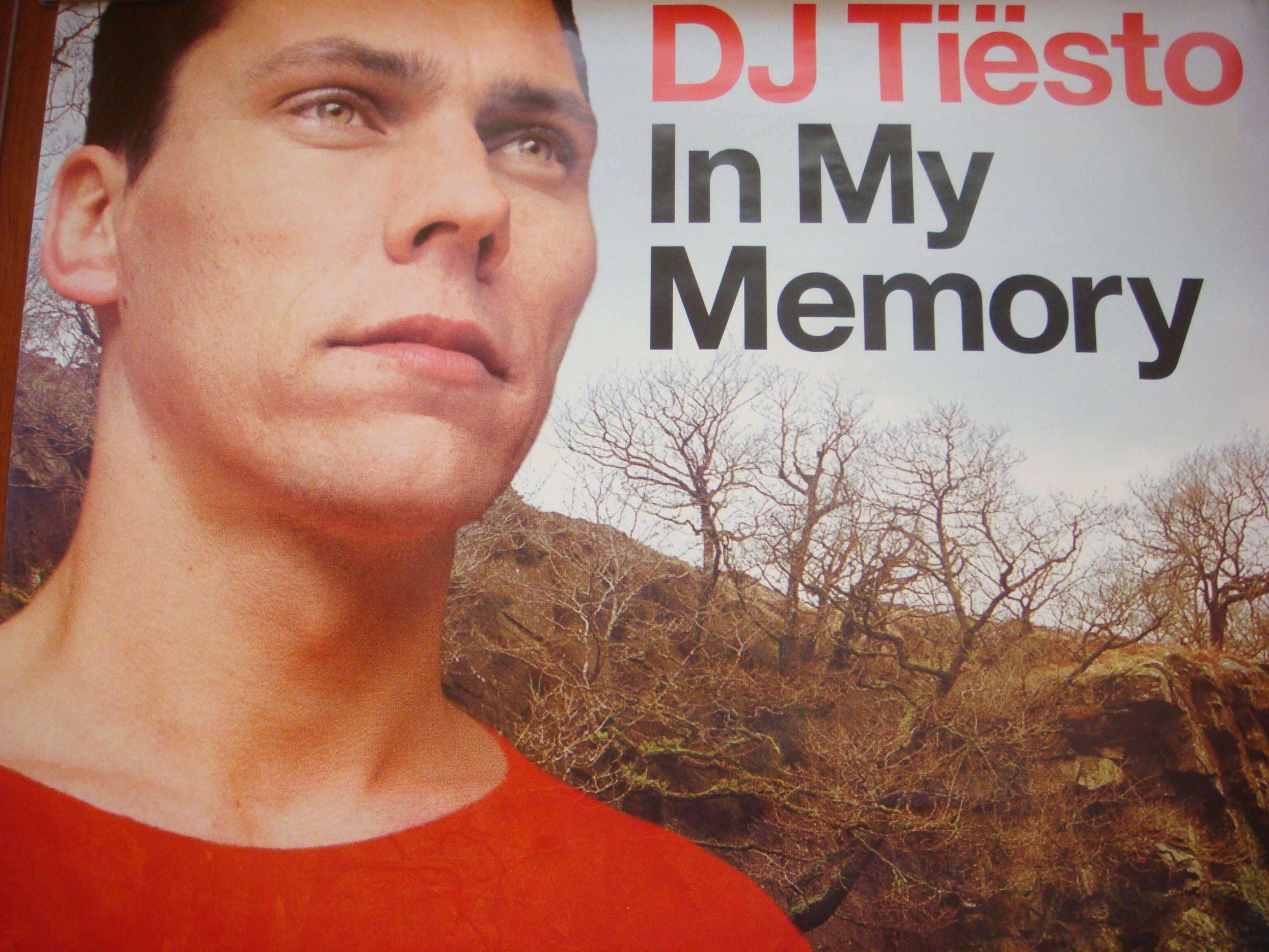 Dj Tiesto In My Memory UK Release Poster