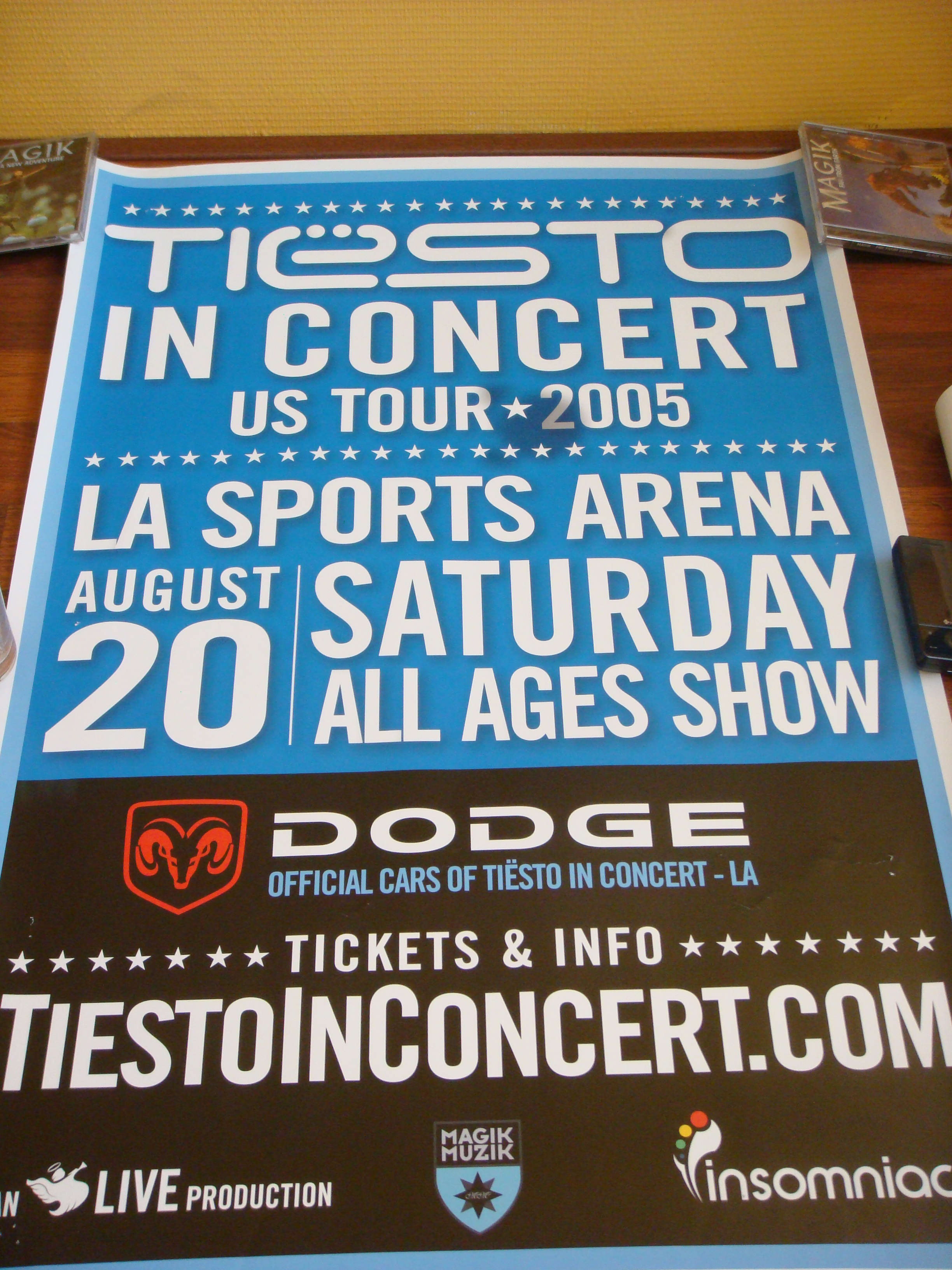 Tiesto In Concert US Tour 2005 Poster