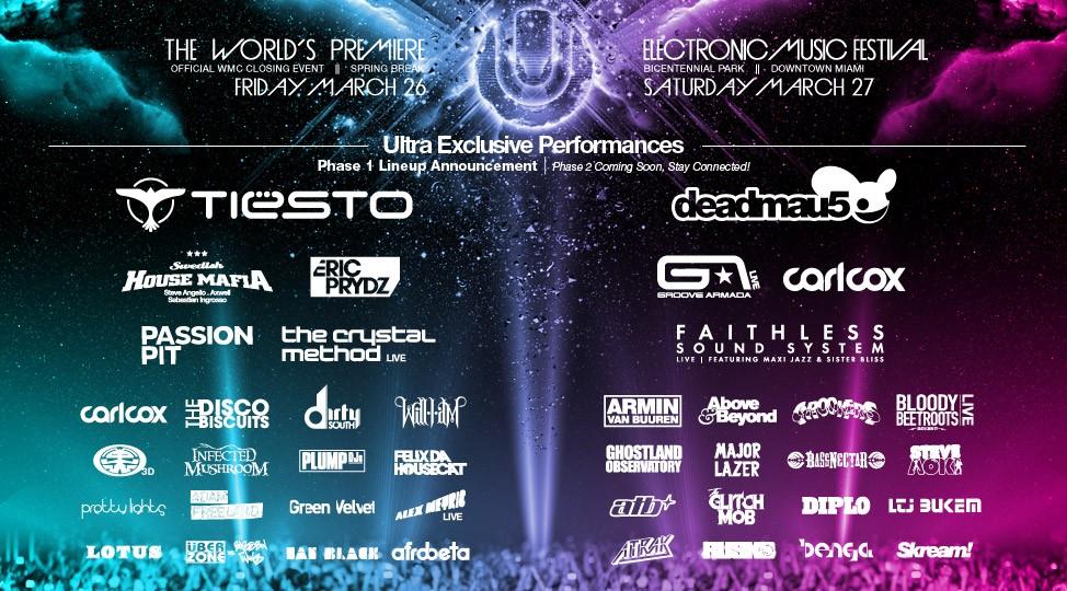 Tiesto announced at Ultra Music Festival 2010