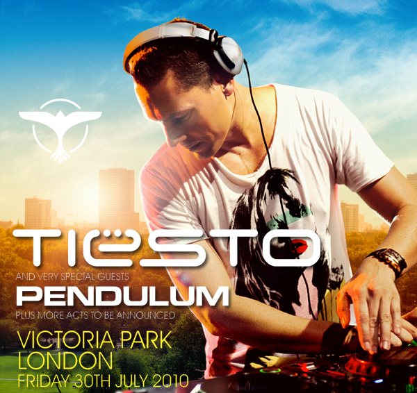 Tiesto Returns To Victoria Park July 2010