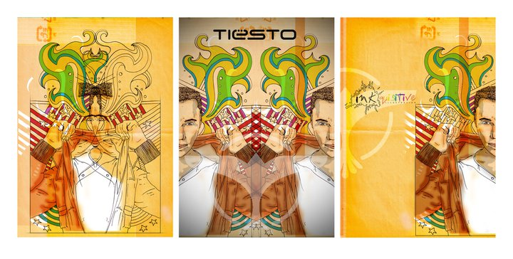 Check this fantastic Tiesto Artwork from Inkquisitive