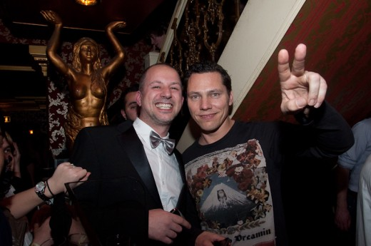 Tiesto attends school party in Breda to support Hardwell