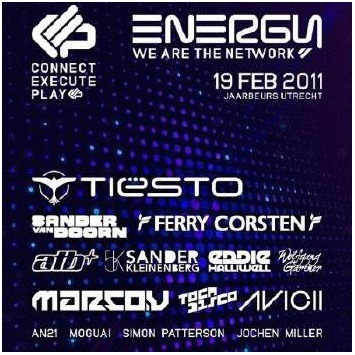 Download the liveset here: Tiesto Live at Energy 2011
