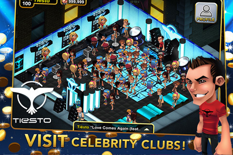 Tiesto & Tapulous Launch ClubWorld (iPhone 4 and Ipad)