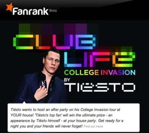 Do you want Tiesto to visit YOUR house party?