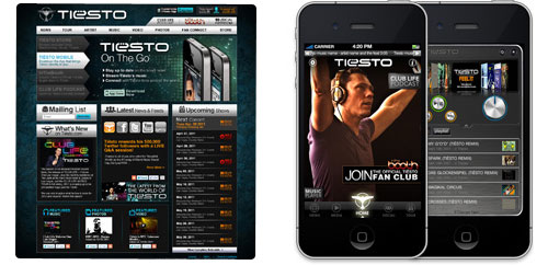 First concept previews new Tiesto.com and mobile app?