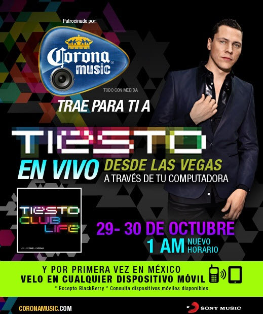 Download the liveset: Tiesto live in The Joint Hard Rock Hotel Las Vegas USA 29-10-2011