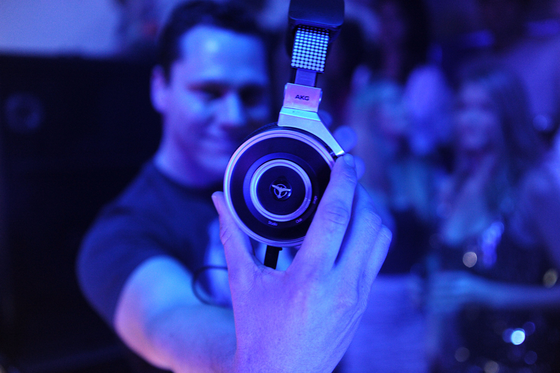 "Tiesto's new ""AKG by Tiësto"" range of headphones"